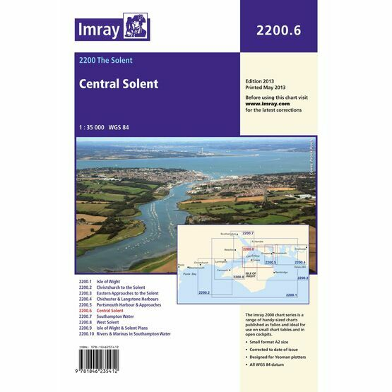 Imray Chart 2200.6 Central Solent