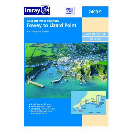 Imray Chart 2400.9 Fowey to Lizard Point
