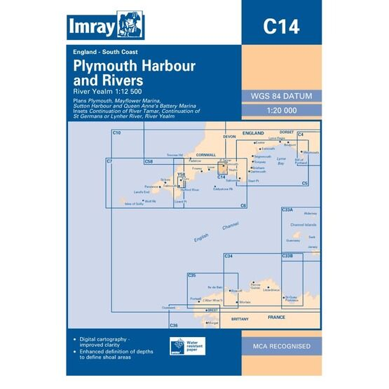 Imray Chart C14: Plymouth Harbour and Rivers