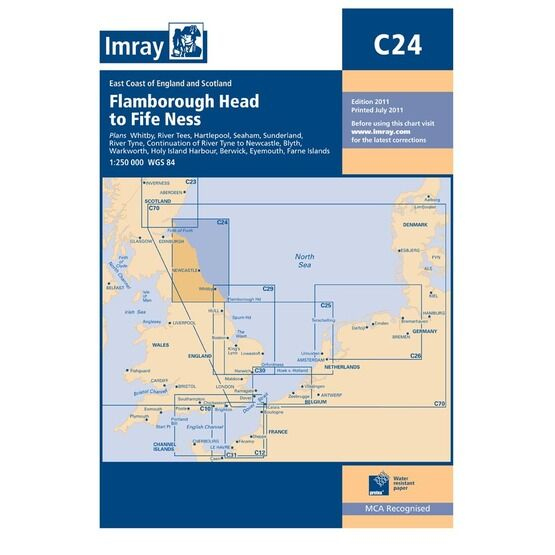 Imray Nautical Chart C24 Flamborough Head to Fifeness