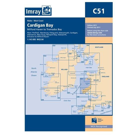 Imray Nautical Chart C51 Cardigan Bay