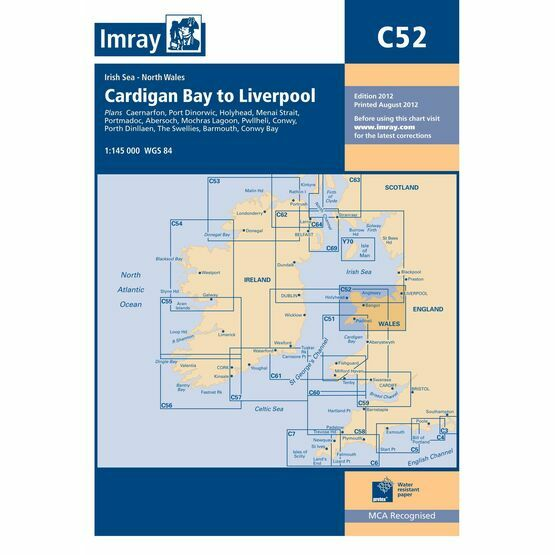 Imray Chart C52: Cardigan Bay to Liverpool