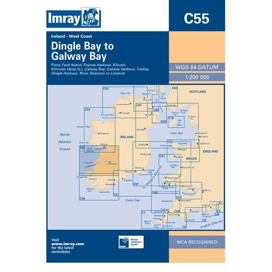 Imray Chart C55 Dingle Bay to Galway Bay