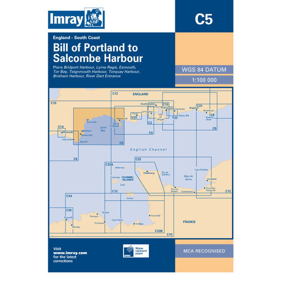 Imray Chart C5: Bill of Portland to Salcombe Harbour