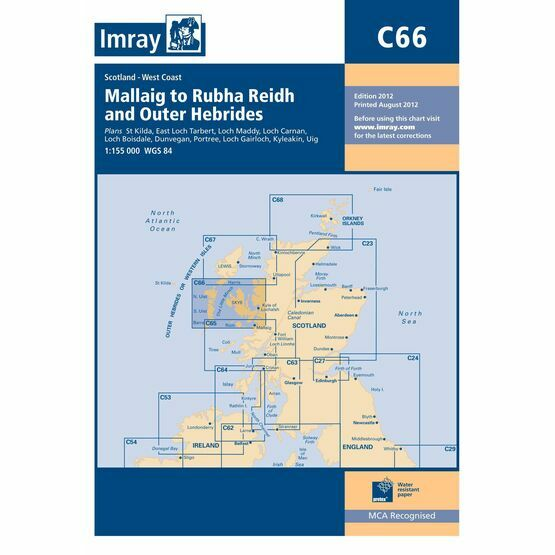 Imray Chart C66: Mallaig to Rudha Reidh and Outer Hebrides
