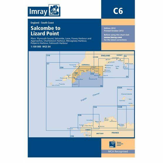 Imray Chart C6 Salcombe Harbour to Lizard Point