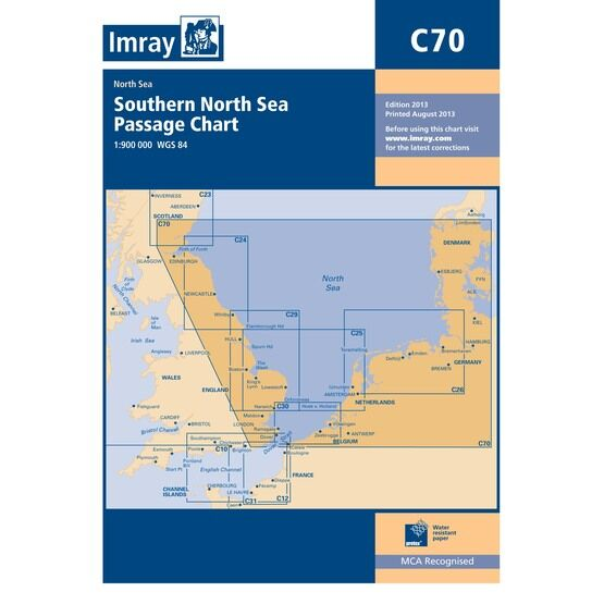 Imray C70 Southern North Sea Passage Chart