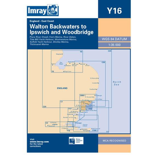 Imray Chart Y16 Walton Backwaters to Ipswich and Woodbridge