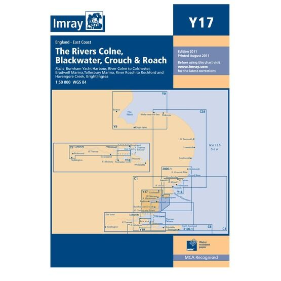 Imray Chart Y17: The Rivers Colne, Blackwater, Crouch & Roach