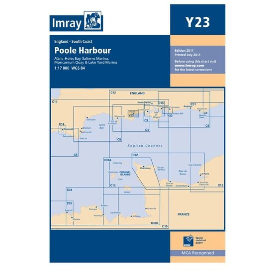 Imray Chart Y23: Poole Harbour