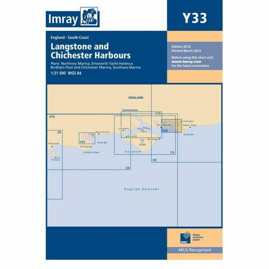 Imray Chart Y33 Langstone and Chichester Harbours
