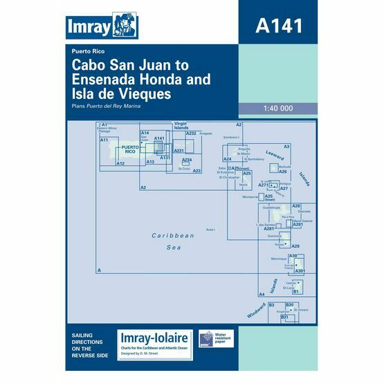Imray Chart A141: Cabo San Juan to Ensenada Honda and Isla de Vieques