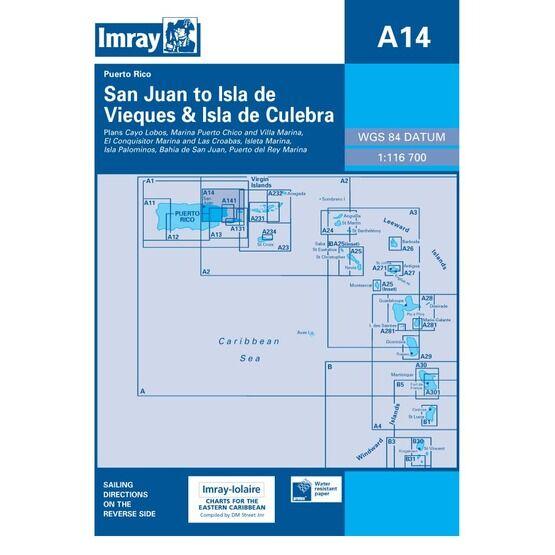 Imray Chart A14: San Juan to Isla da Vieques & Isla de Culebra
