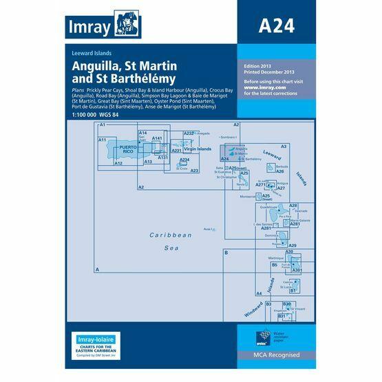 Imray Chart A24: Anguilla, St Martin and St Barthelemy