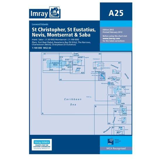 Imray A25 St. Eustatius, St Christopher, Nevis, Motserrat & Saba