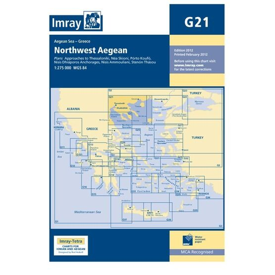 Imray Chart G21: Northwest Aegean Sea