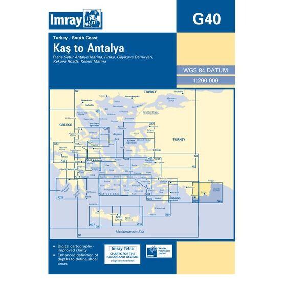 Imray G40 South Coast of Turkey - Kas to Antalya
