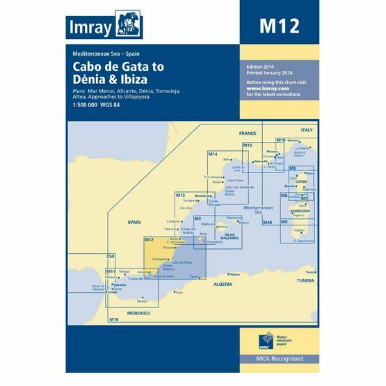 Imray Chart M12 Cabo de Gata to Denia & Ibiza