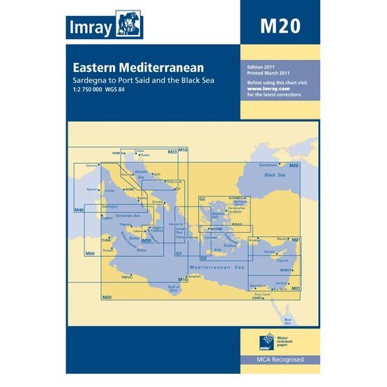Imray Chart M20: Eastern Mediterranean
