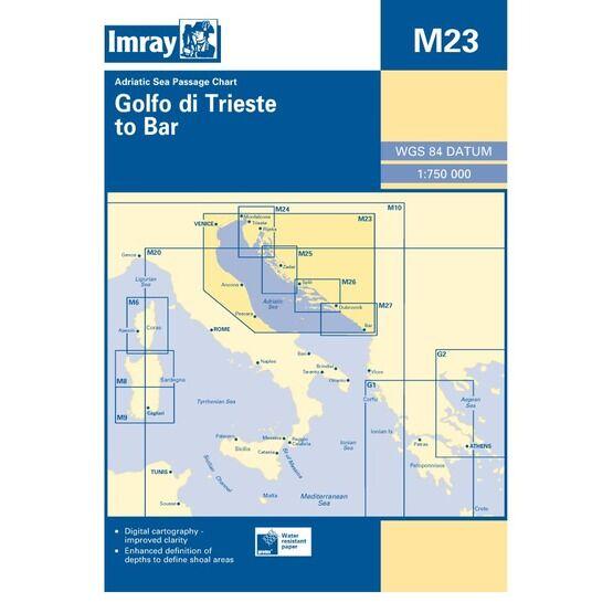 Imray M23 Adriatic Sea Passage Chart