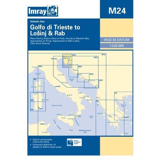 Imray Chart M24 Golfo di Trieste to Losinj & Rab