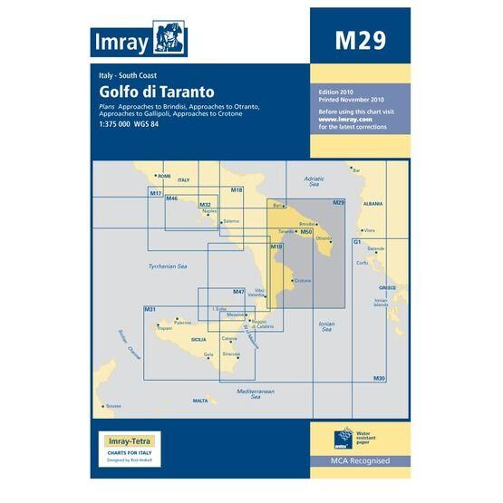 Imray Chart M29: Golfo di Taranto