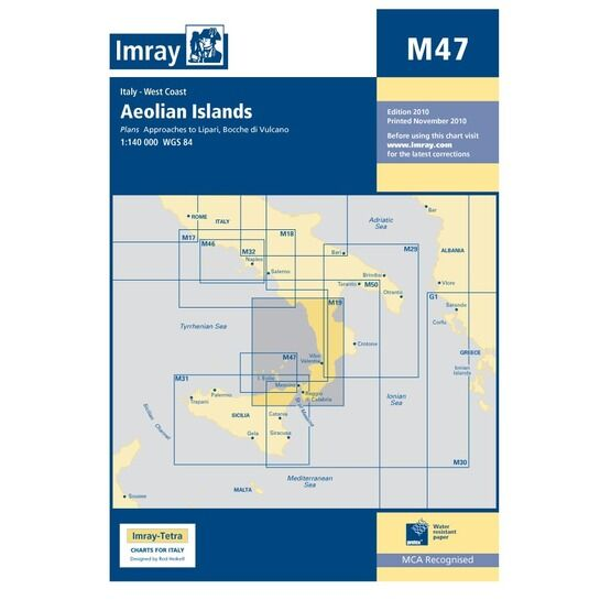 M47 Aeolian Islands Admiralty Chart