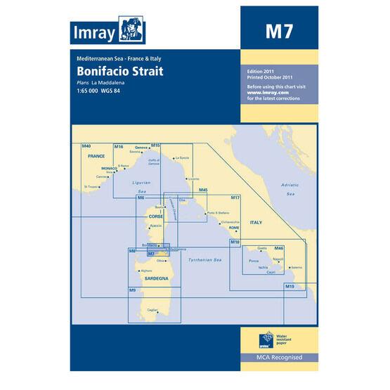 Imray Chart M7 Bonifacio Strait