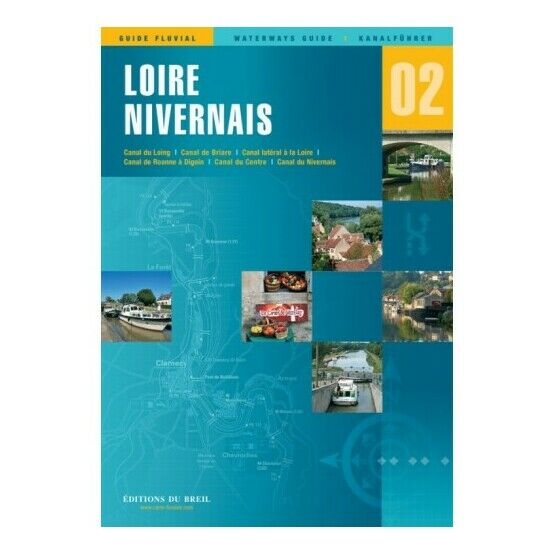 Imray Editions Du Breil No.2 Loire / Nivernais Waterway Guide
