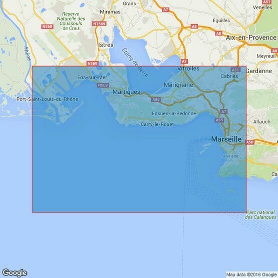 2116 Fos-sur-Mer to Marseille Admiralty Chart