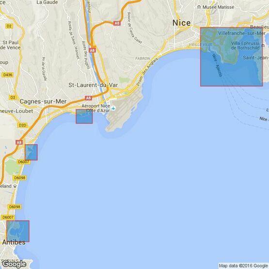 2246 Cap d'Antibes to Cap Ferrat Admiralty Chart