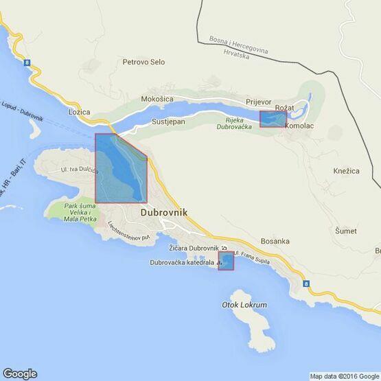680 Croatia, Dubrovnik Admiralty Chart