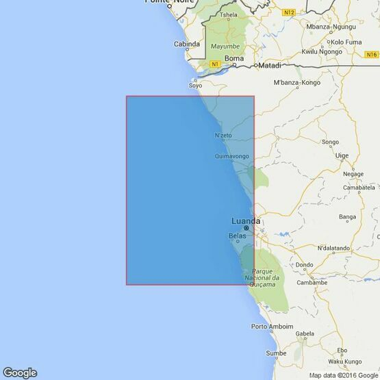 307 Angola, Cabeca da Cobra to Cabo Ledo. Admiralty Chart