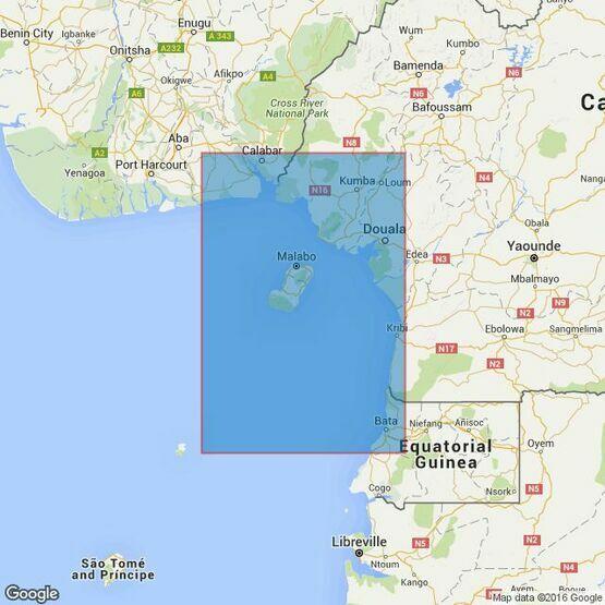 1387 Calibar to Barta inc. Isla De Bioko Admiralty Chart