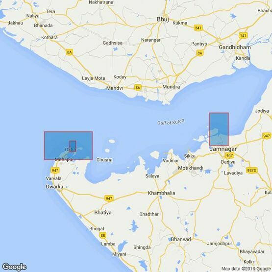 673 Ports and Anchorages in the Gulf of Kachchh Admiralty Chart