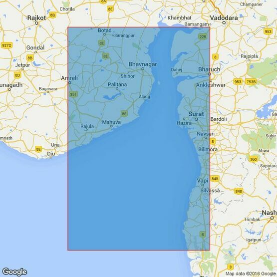 1486 Gulf of Khambhat and Approaches Admiralty Chart