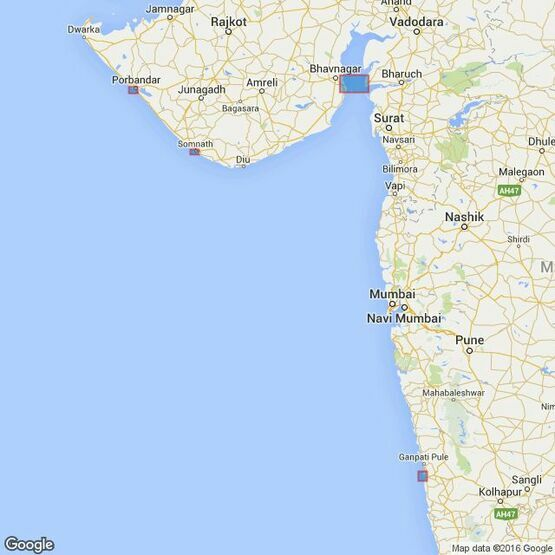 3460 Ports on the West Coast of India Admiralty Chart