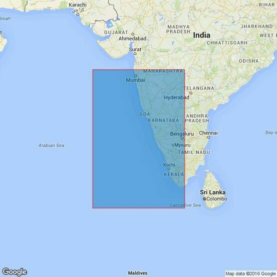 708 Cape Comorin to Bombay Admiralty Chart