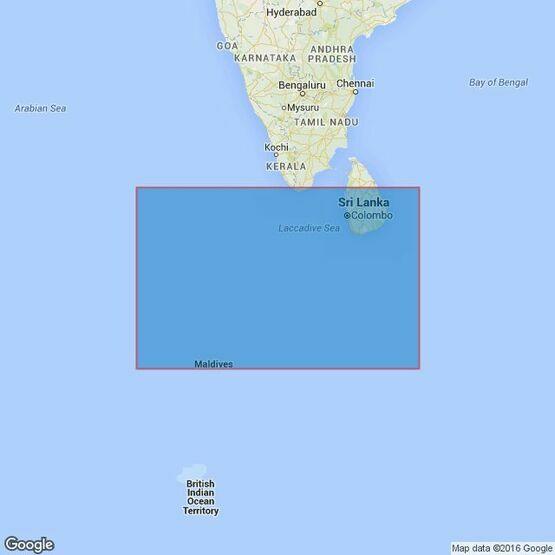 709 Maldives to Sri Lanka Admiralty Chart