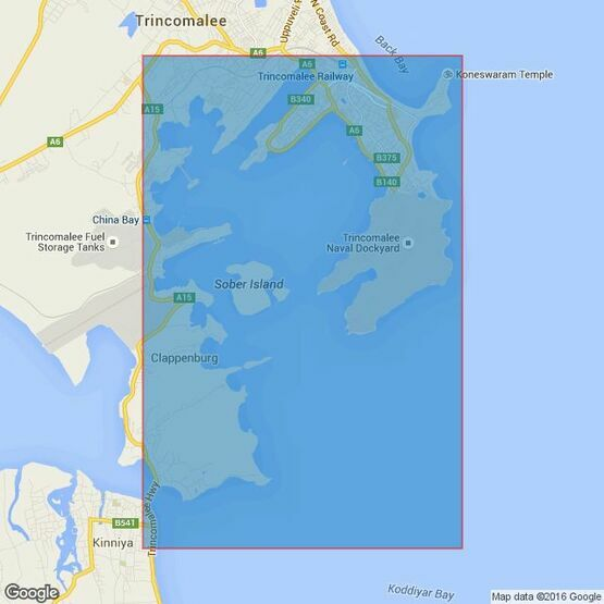 816 Trincomalee Harbour Admiralty Chart