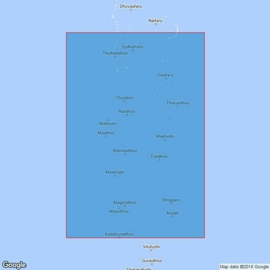 1013 Mulaku Atoll to South Maalhosmadulu Atoll Admiralty Chart