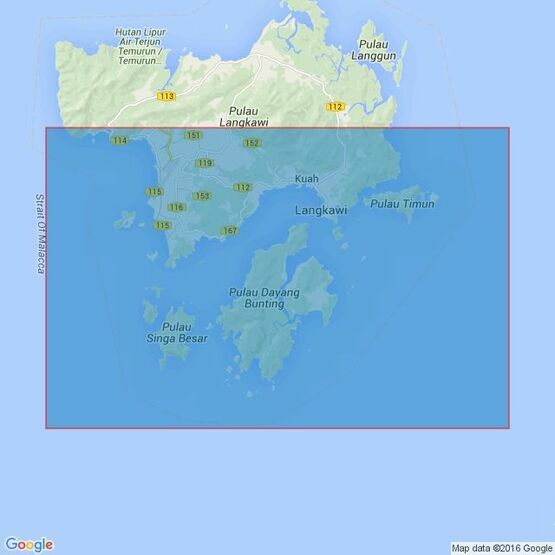 3485 Approaches to Pelabuhan Langkawi Admiralty Chart
