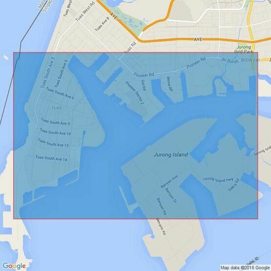 4033 Tuas Bay, West Jurong Fairway and Pesek Basin Admiralty Chart