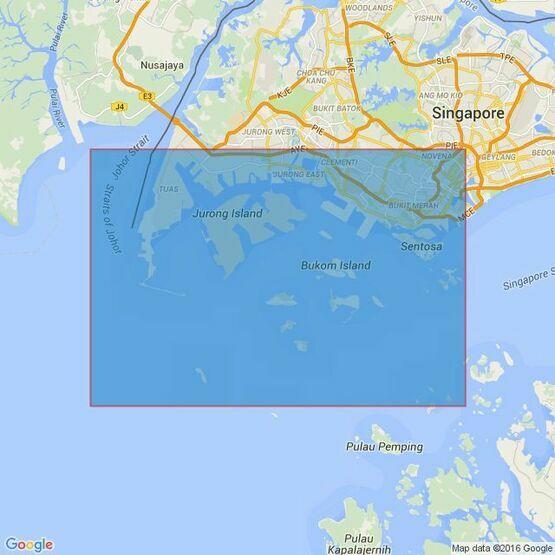 4040 Tuas View to Pulau Sakijang Bendera (S.John's Island) Admiralty Chart