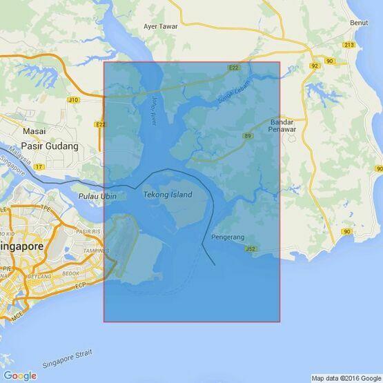 4043 Kuala Johor and Sungai Johor Admiralty Chart