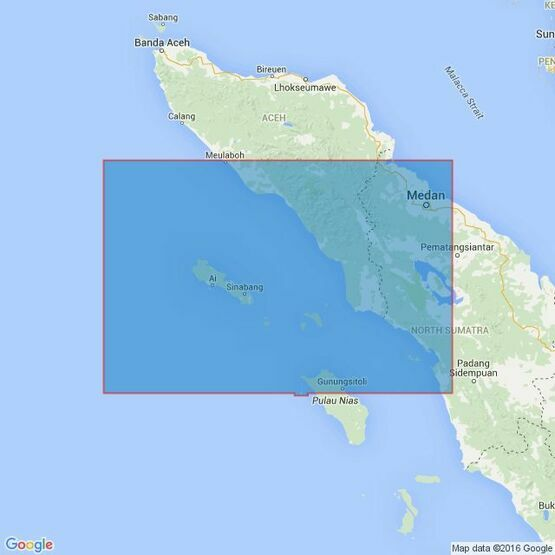 400 Ujung Karang to Sibolga Admiralty Chart
