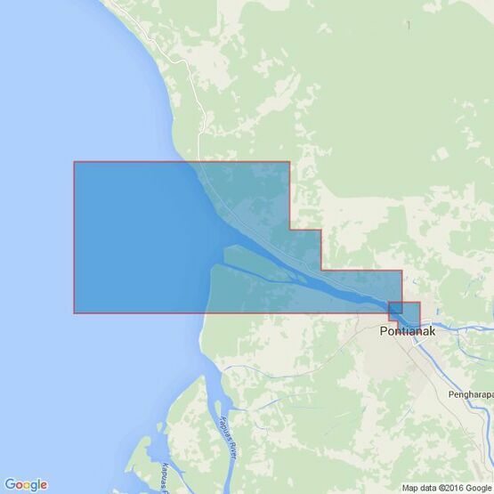 3721 Pulau-Pulau Leman to Sungai Kapuas Kecil Admiralty Chart