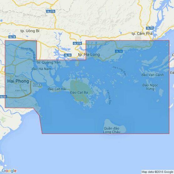 3875 Hai Phong to Cam Pha Admiralty Chart