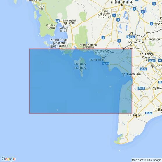 3879 Quan-Dao Nam Du to Baie De Ream Admiralty Chart