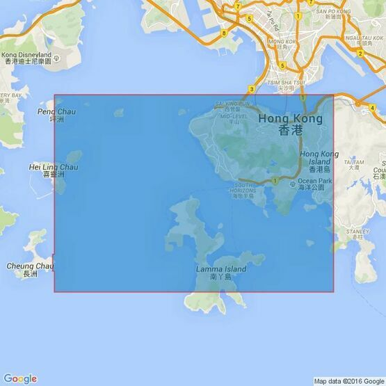 4121 Hong Kong, Lamma Channels Admiralty Chart